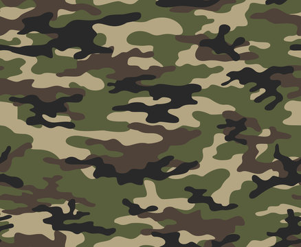 Camouflage army seamless vector pattern for print.