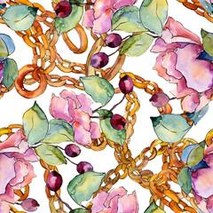 Bouquet de fleurs botaniques florales. Ensemble d& 39 illustrations de fond aquarelle. Motif de fond sans couture.