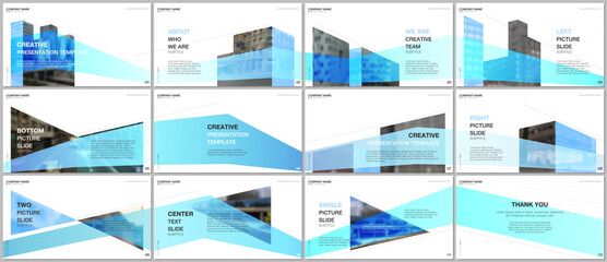 Presentations design, portfolio vector templates with architecture design. Abstract modern architectural background. Multipurpose template for presentation slide, flyer leaflet, brochure cover, report Fotobehang