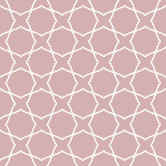 Seamless ornament in arabian style. Geometric abstract purple and white background. Pattern for wallpapers and backgrounds