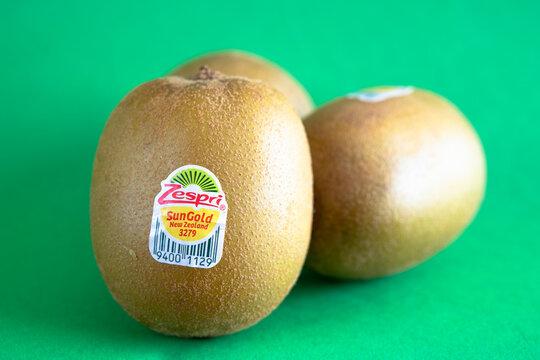 Close up of Zespri Sungold kiwis
