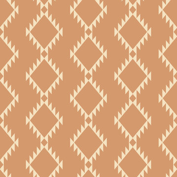 Tribal southwestern native american navajo seamless pattern