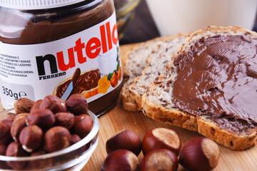 Jar of Nutella spread