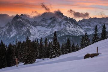 Obraz Winter in Tatra Mountains in Poland Zakopane  - fototapety do salonu