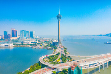 Deurstickers Toronto Aerial scenery in the Macao Special Administrative Region of China