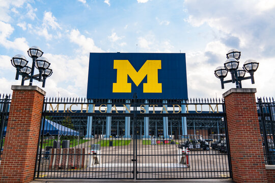 Entrance gate at the University of Michigan Stadium, home of the Michigan Wolverines
