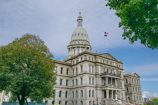 Exterior of the Michigan State Capitol Building in Lansing