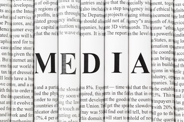 Concept of mass media, print media and publishing