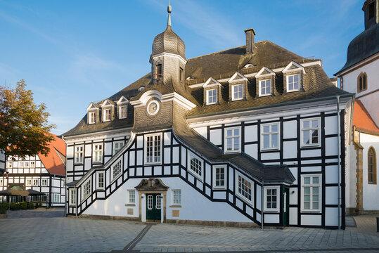 The historic Rietberger town hall _ Kreis Gütersloh, North Rhine-Westphalia, Germany, Europe