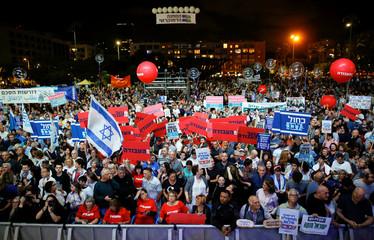 Rally commemorating the 24th anniversary of the assassination of Israeli Prime Minister Yitzhak Rabin, in Tel Aviv