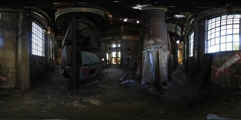 Photo sur Toile Les vieux bâtiments abandonnés Abandoned Factory HDRI panorama