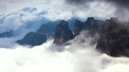 Wall Mural - View of the National park Tre Cime di Lavaredo. Dolomiti alps, Tyrol, Italy.