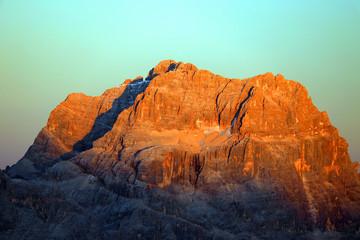 Printed kitchen splashbacks Light blue Alpine autumn landscape in the Ampezzo Dolomites, Italy