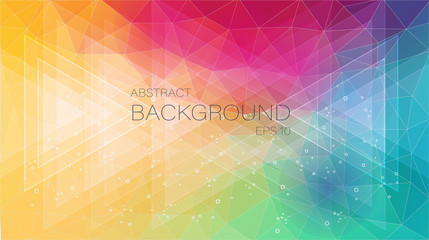 2D creative background with triangle and circle shapes for web design