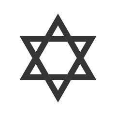 Vector Star of David isolated.