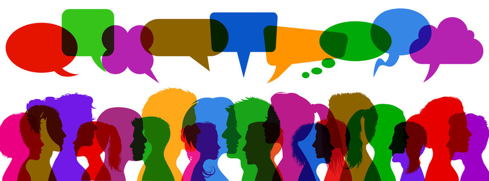 People speech, discussion, meeting, dialogue - vector