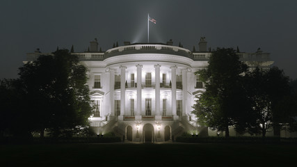 Fototapete - White House Night