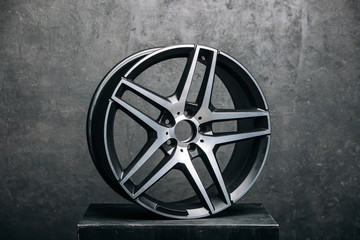 Сar metal disc detail. Car rims