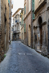 Street view of the city of Lanciano in Abruzzo