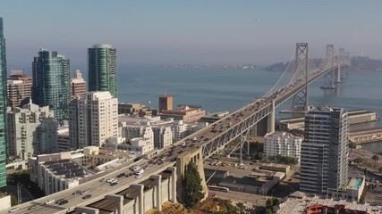 Fotomurales - South San Francisco Buildings and The Bay Bridge California