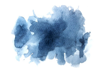 abstract watercolor background.splash color gray on paper.