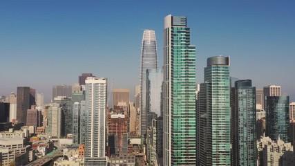 Fotomurales - Over Downtown Buildings San Francisco California City Center