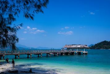 Picture of jetty in Pulau Beras Basah, Langkawi, Malaysia