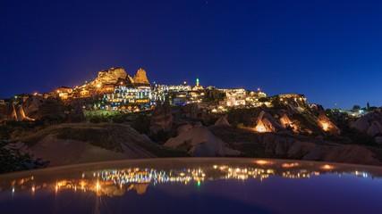 トルコ・カッパドキア ウチヒサルの夜景