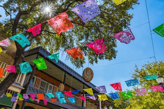 Mexican Market Square Paper Decorations San Antonio Texas