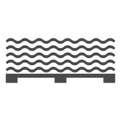 Roofing slate on a pallet icon in a flat style.Vector illustration.