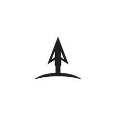 Spear logo design vector template
