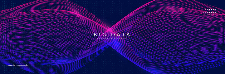 Big data learning. Digital technology abstract background. Artificial intelligence concept. Tech visual for database template. Cyber big data learning backdrop. Papier Peint