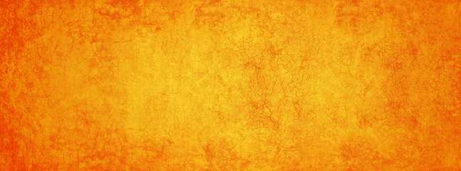 yellow and orange cement texture wall banner in summer background