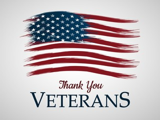 Veterans day background. Thank You.Vector illustration.