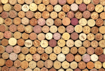 Abstract background of old wine corks