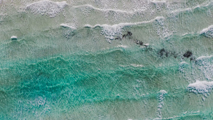 Amazing aerial view of the best beach in the world.