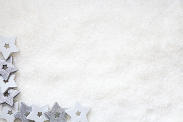Christmas background with snow and other decoration, text space