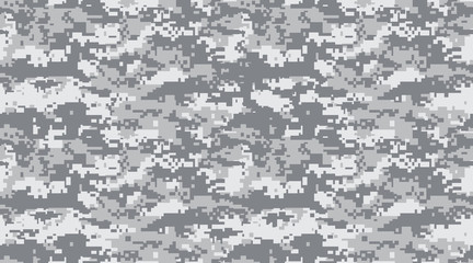 Fototapeta Seamless pattern. Abstract military or hunting camouflage background. black and white gray. Vector illustration. repeated seamless obraz