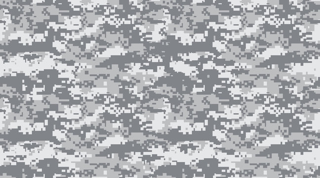 Seamless pattern. Abstract military or hunting camouflage background. black and white gray. Vector illustration. repeated seamless