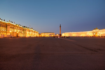 St. Petersburg Russia. Winter Palace Hermitage Museum General Staff Building