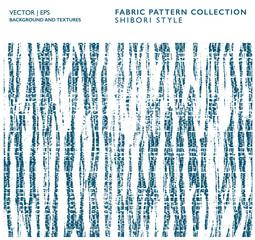 Batik navy pattern. Cotton fabric striped texture. Ink brush vector background. Shibori technique Textile print ornament.