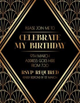 Elegant Art Deco Invitation Design