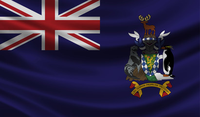 south georgia and the south sandwich islands wave Flag vector illustration