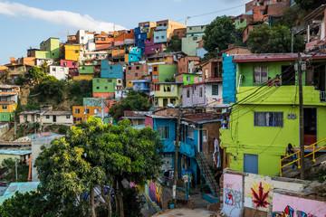 Colorfull houses in Comuna 13 in Medellin Fotomurales