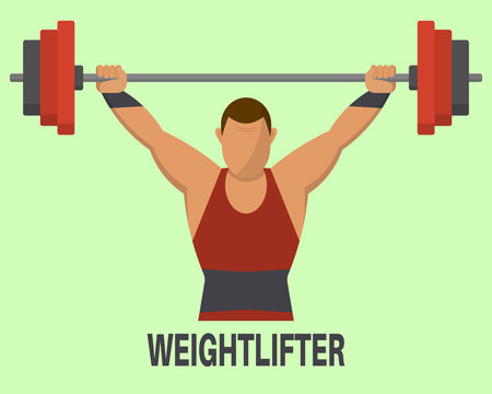 Weightlifter's icon