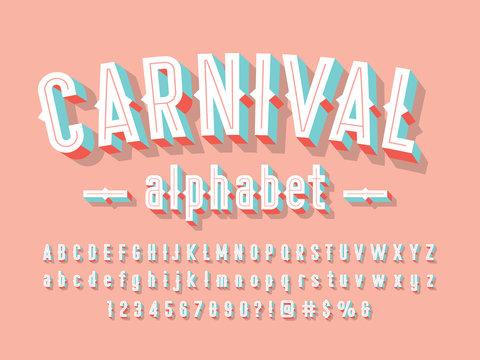 Stylish vintage styled 3D alphabet design