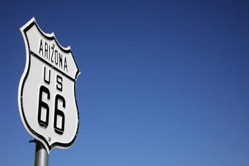 Photo on textile frame Route 66 Route 66 - Schild