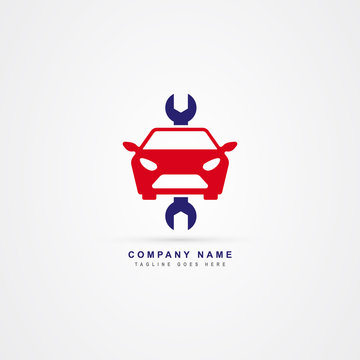 Car service icon logo vector template