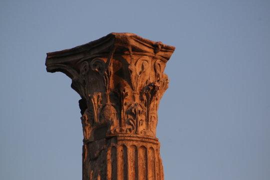 Athens,  Acropolis and the Roman Agora at sunset