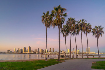 Fotomurales - Downtown San Diego skyline in California, USA